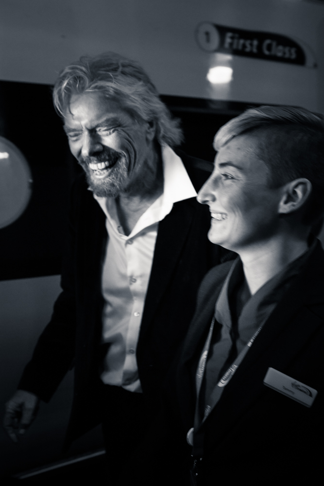Richard Branson & Virgin Trains. | Nicholas Ball